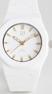 D1 Milano , Gold Collection White Watch