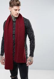 Dr Martens , Knitted Scarf Red