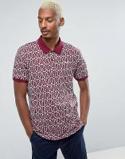 Huf , Knitted Polo With Embroidered Logo
