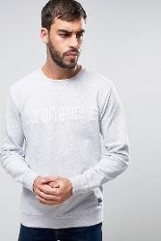Lindbergh , Logo Embroidered Sweatshirt In Light Grey