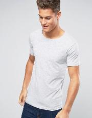 Lindbergh , T Shirt In Grey Marl Stretch Cotton