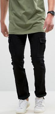Loyalty & Faith , Loyalty And Faith Tapered Cargo Pants Trousers In Black