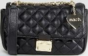 Marc B , Pennie Quilted Cross Body Bag In Black