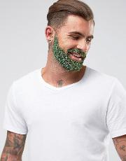 Mens Society , Men's Society Glitter Beard Kit Green