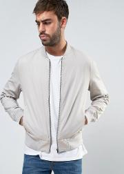 New Look , Cotton Bomber In Stone