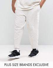Puma , Plus Waffle Joggers In Grey Exclusive To Asos
