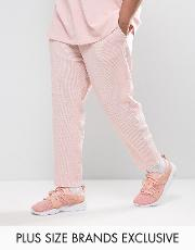Puma , Plus Waffle Joggers In Pink Exclusive To Asos