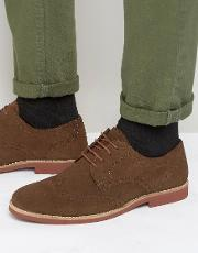 Red Tape , Brogues In Brown Suede