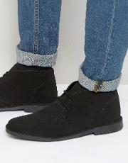 Red Tape , Desert Boots Black Suede