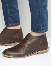 Red Tape , Desert Boots In Brown Leather