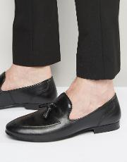 Red Tape , Tassel Loafers In Black Leather