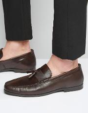 Red Tape , Tassel Loafers In Brown Leather