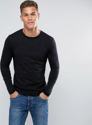 United Colors Of Benetton , Long Sleeve T Shirt In Black