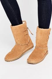 Call It Spring , Bridia Tie Back Camel Suede Boots