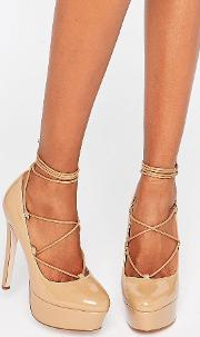 Asos , Party All Night Lace Up Platforms