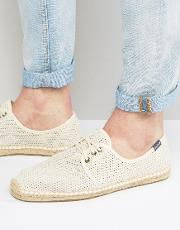 Soludos , Derby Lace Up Mesh Espadrilles