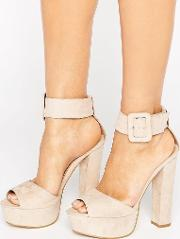 Truffle Collection , Buckle Trim Platform Sandal