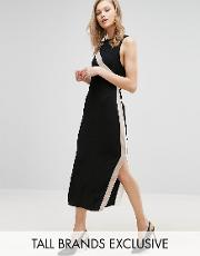 Alter Tall , Column Dress With Side Stripe Detail