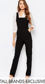 Alter Tall , Pinafore Tailored Jumpsuit