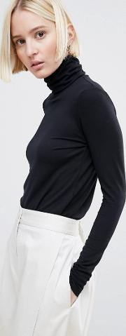 Ganni , Barneys High Neck Long Sleeved Top