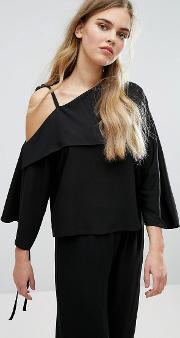 House Of Sunny , Cold Shoulder Top