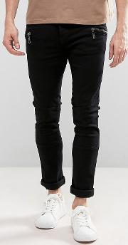 Loyalty & Faith , Loyalty And Faith Wager Panelled Skinny Jeans With Zips