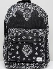 Spiral , Backpack With Bandana Print