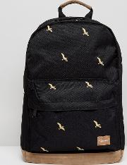 Spiral , Backpack With Bird Print