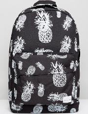 Spiral , Backpack With Pineapple Print