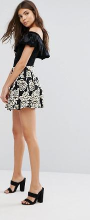 Zibi London , Embroidered Floral Prom Skirt