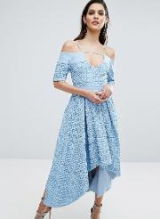 8th Sign , The Hibiscus Lace Full Skirt Dress