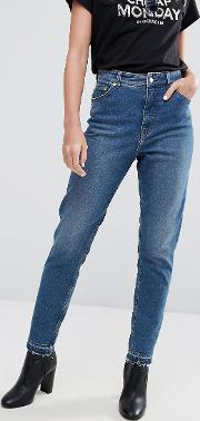 Cheap Monday , High Rise Mom Jean With Released Hem
