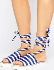 Clover Canyon , Stripe Slide Sandals