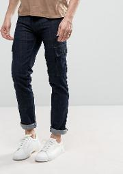 Loyalty & Faith , Loyalty And Faith Tapered Cargo Pants Trousers In Indigo Wash