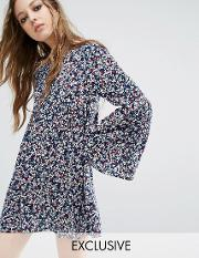 Milk It , Vintage Smock Dress  Floral