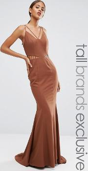 Jarlo Tall , Strappy Maxi Dress With Waist Cutout Detail