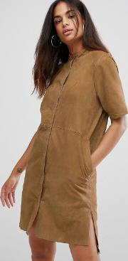 Selected , Polin Suede Shirt Dress