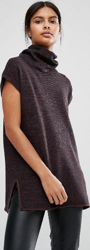 Vila , Roll Neck Knitted Tunic
