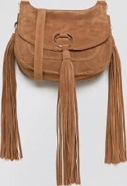 Yoki Fashion , Yoki Tassel Detail Saddle Bag