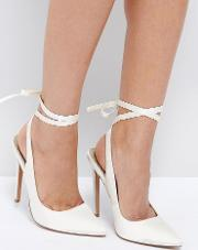 Asos , Pipe Down Bridal Pointed High Heels