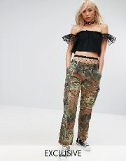 Milk It , Vintage Festival Camo Trousers