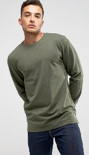 Only & Sons , Longline Sweatshirt With Dropped Hem Detail