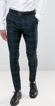 Asos , Super Skinny Suit Trousers  Large Blackwatch Check