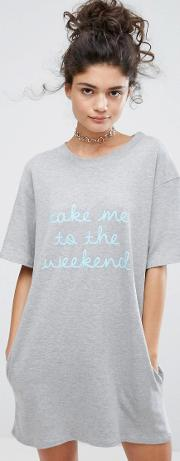 Adolescent Clothing , Take Me To The Weekend  Shirt Dress