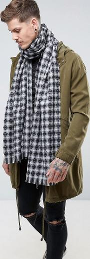 Dr Martens , Wool Check Scarf