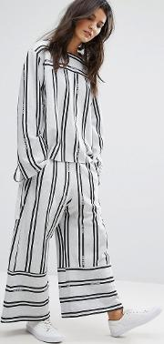 House Of Sunny , Contrast Stripe Wide Leg Trousers  Ord