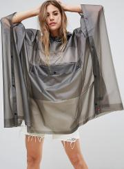 Hunter , Clear Pu Pouched Rain Poncho