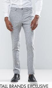 Noak , Tall Skinny Suit Trouser  Fleck Donegal
