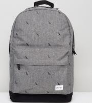 Spiral , Backpack Crosshatch With Bird Print