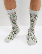 Urban Eccentric , Christmas Socks With Cactus